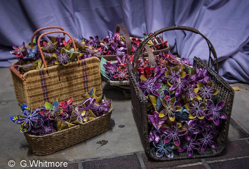 Derby Folk Festival image - a basket of paper flowers