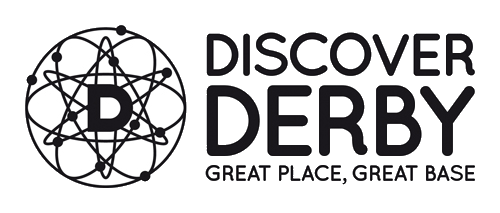 Discover Derby logo - Great Place, Great Base
