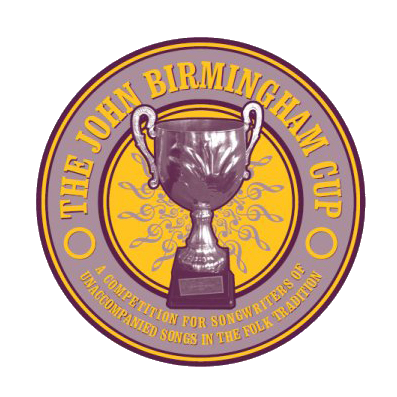 John Birmingham Cup logo featuring the title, and image of an award