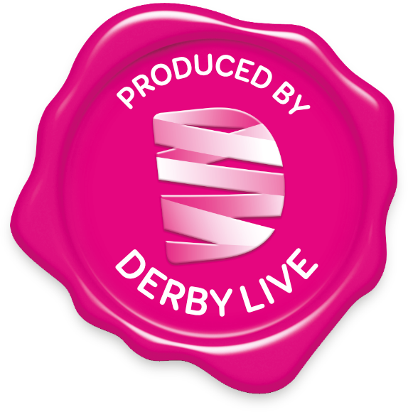A stamp saying Produced by Derby LIVE